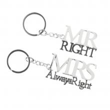 Sleutelhangers Mr en Mrs right