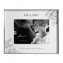 Fotolijst bloem Mr en Mrs