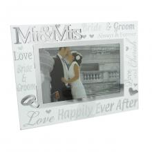 Fotolijst Mr en Mrs glas
