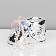 Spaarpot zilveren schoen