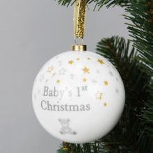 Kerstbal baby's first christmas